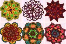 Padmë Mandalas / mandalas, tejitos, colores.