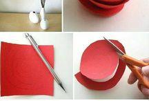 Dekorácie z farebného papiera