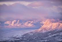 Vinter foto fjell