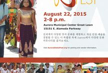 Global Fest 2015 Posters / Reflecting the diverse, multicultural celebration that is Global Fest, the city of Aurora has prepared promotional posters in a variety of different languages.