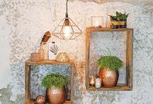 houten vitrine kastjes
