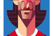 GRAPHICS Play maker -soccer illustrated portraits