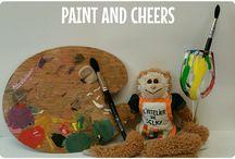Atelier de Selky - Paint and Cheers / Nouveau et inédit sur Montpellier et dans la région : des afterwork créatifs dans un lieu partenaire. 2 heures de peinture un verre dans une main et un pinceau dans l'autre !