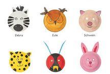 Tieremasken aus Papptellern