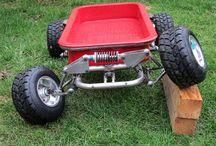 Kids wagon, trike & pedal car