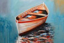 Boat paintings