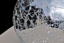 crackled mirror