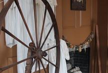 Wheels! / Spinning Wheels, Walking Wheels, Yarn Winders.......they are all my weakness! <3