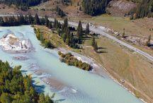 Горная река Чуя на Алтае.