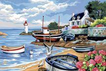 Peinture par numéros / Découvrez l'univers de la peinture par numéro du site afairesoimeme.com