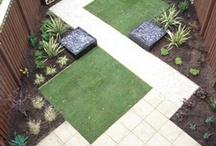 Suorat linjat - straight lines in garden