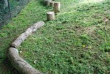 prvky dřevo zahrada