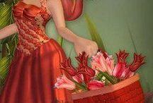 Betty Boop vestido vermelho
