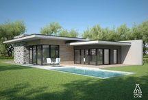 One story modern house