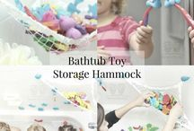 bath toy storage hammock