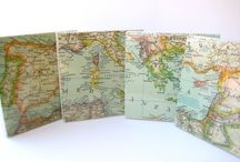 Map Crafts / Great ways to recycle old maps