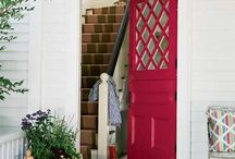 Colorful Doors / A splash of color may be just what your front entry or interior door needs to create a dramatic impression...bold can be beautiful!
