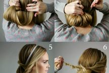 Hairband hairstyle