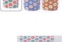 Peyote beads rings