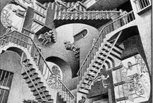 Escaleras paradójicas / Se tiene constancia de la aparición de las primeras escaleras sobre el año 6.000 A.C. Se trataba de construcciones simples hechas a base de troncos encastados en el terreno. El objetivo era poder moverse hacia un lugar más alto lo más rápidamente posible, puesto que un lugar más alto significaba normalmente un lugar más seguro, la diferencia entre la vida y la muerte.