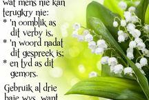 Afrikaans sayings