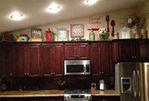 Top of cabinets design