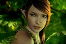 Fantasy ● Elf ● Wood ● Female