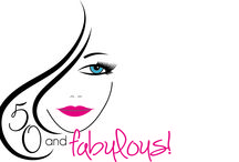 50 and Fabulous! / Custom logos and magazine covers for women turning 50!