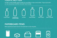 Recycling in the Bathroom / Many bathroom containers and paper products can be recycled in your household recycling or organic waste recycling, including cotton swabs, toilet paper rolls and toothpaste boxes. / by Ramsey Recycles