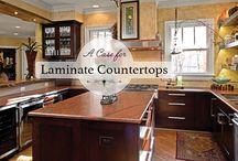 Laminate Countertops / Laminate countertops are reasonable in price, easy to maintain, and have resistance to stains and scratches. Read more about laminate countertops here.