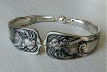 silverware and metal jewelry