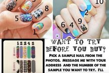Jamberry! / Waiting on nail polish to dry is so yesterday!  Try Jamberry today!  Message me and I will send you a free sample!  Hundreds of designs, no dry time, lasts 2 weeks on fingers & 4 on toes! Www.kimard.jamberrynails.net / by Kimberly Ard
