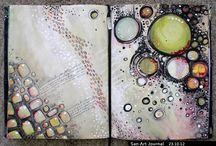 Arty journaling Inspo