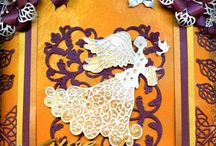 DIY - Angel Shadow Box Project / Find all you need to make this Angelic Christmas and Thanksgiving shadow box. It is a perfect celebration for this beautiful holiday season. FREE tutorial so you can create this project that reflects your thankful spirit or adjust the theme to reflect your message. / by Paper-Papers