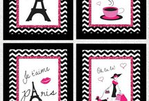 Jessica's room paris theme