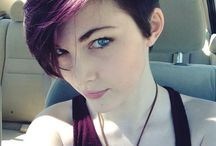 Pixie hair cuts and purple color