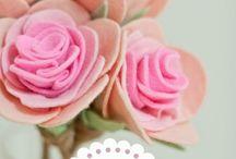 Feltro - fiori