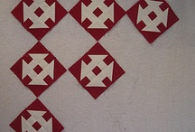quilts: red and white