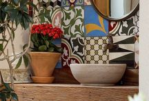 Ideas with tiles / Create beautiful spaces with Mexican & Moroccan tiles.
