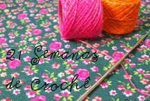 Desafio 21 Semanas de Crochê / 21 Semanas para aprender a fazer crochê.