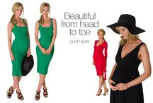 Vanessa Knox - new designer / Vanessa know is our newest brand we stock, well known by many celebs including Angelina Jolie . Lots of gorgeous pieces for embracing your new curves