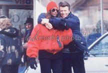David Bowie with his wife Iman Abdulmajid
