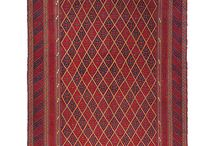 Mushvani / Mushvani - vegyes technikával készült csomózott és szövött keleti gyapjú szőnyeg