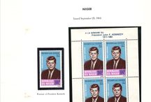 NIGER & NIGERIA Stamps JFK / John F. Kennedy stamps collection of Niger and Nigeria.