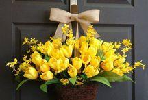 tavaszi ajtódíszek