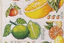 Cross stitch - Fruits