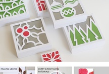 Christmas Crafts / Paper crafts and textiles