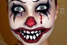 Scary clown faces / by Jennifer Taylor
