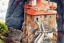 Paysage (Пейзаж) / Прекрасные рисунки городских улиц и красивых уголков природы.