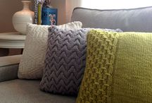 Knitting pillows - blankets